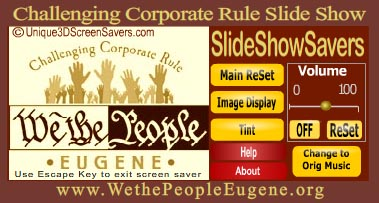 Challenging Corporate Rule <p>Slide Show Screen Saver Settings Panel